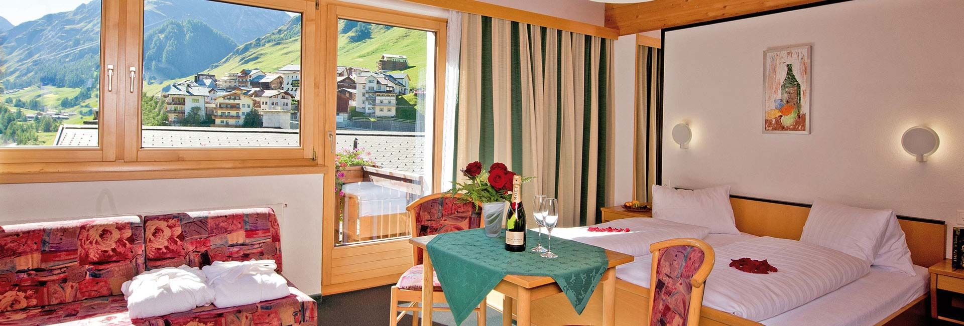 Samnaun Zimmer Dependance im Hotel Romantica