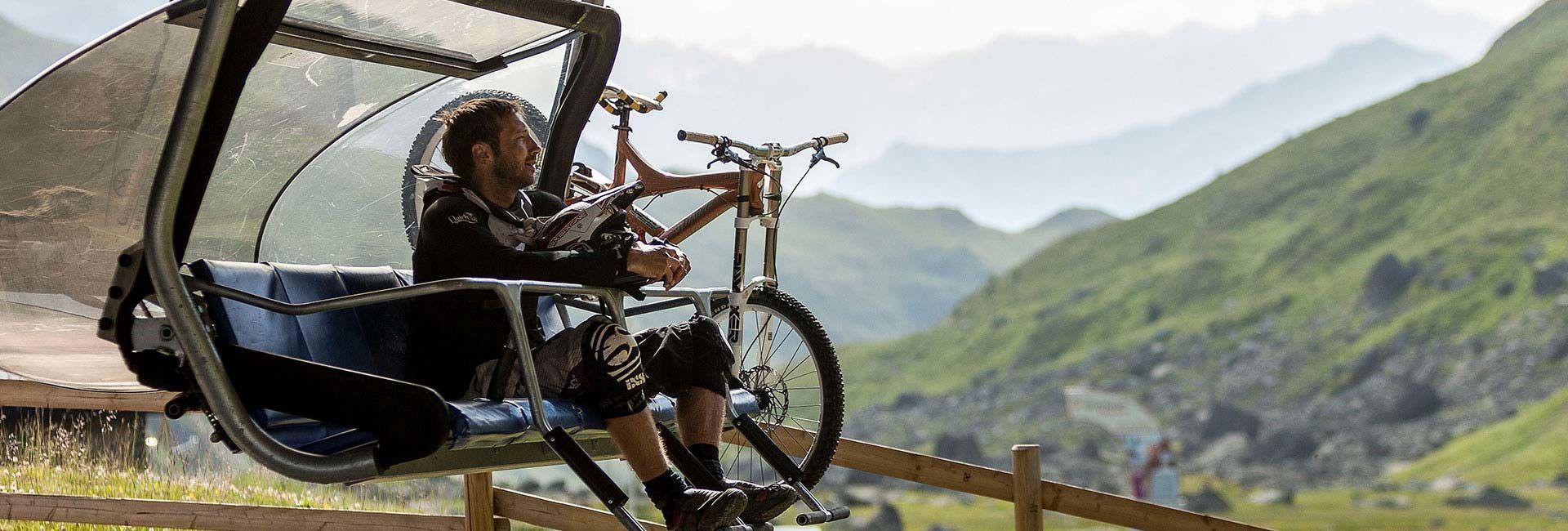 Biken in Samnaun